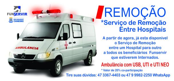 Serviço de Remoção entre Hospitais
